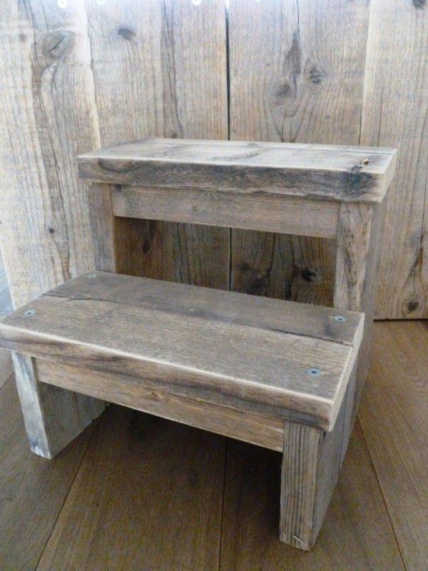 Keukentrapje steigerhout klein-Uitverkocht! | STEIGERHOUT | VILLA VICA