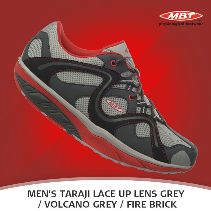 Be a part of the MBT revolution with the dynamic Men's Taraji Lace Up. Available in shades: Lens Grey, Volcano Grey and Fire Brick.