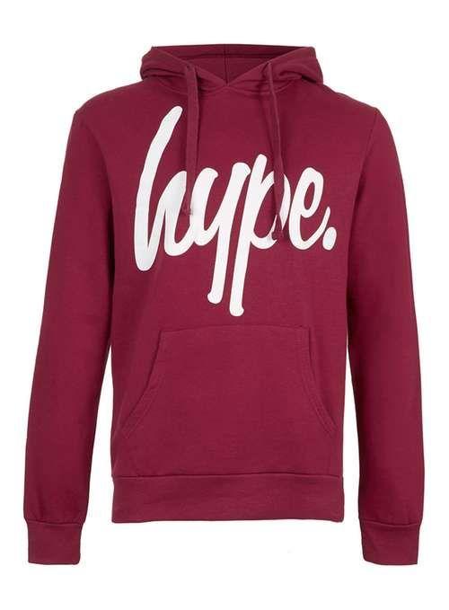HYPE Burgundy Hoodie* - Men's Tops - Clothing - TOPMAN