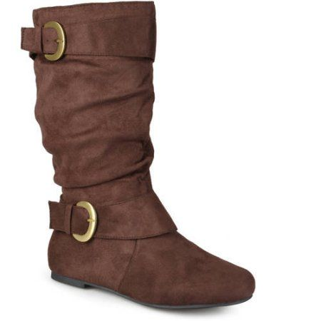 Brinley Co. Women's Perth Slouchy Wide Calf Boots, Size: 9.5, Brown