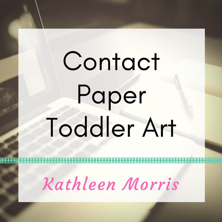 Simple ideas to create artwork using clear contact paper