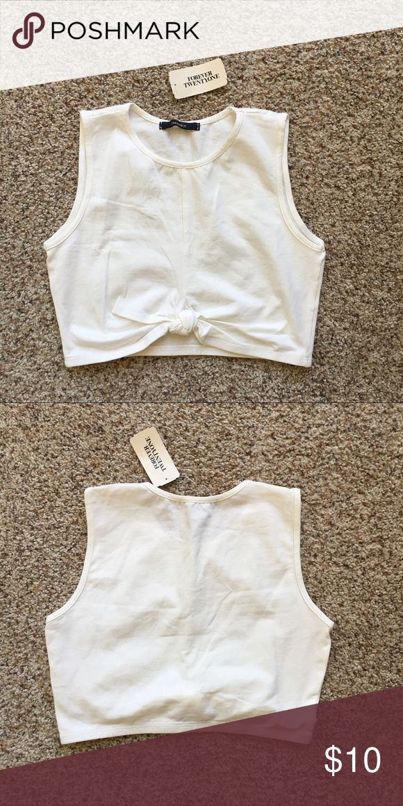 Cream Crop Top! New with tags! Forever 21 Tops Crop Tops