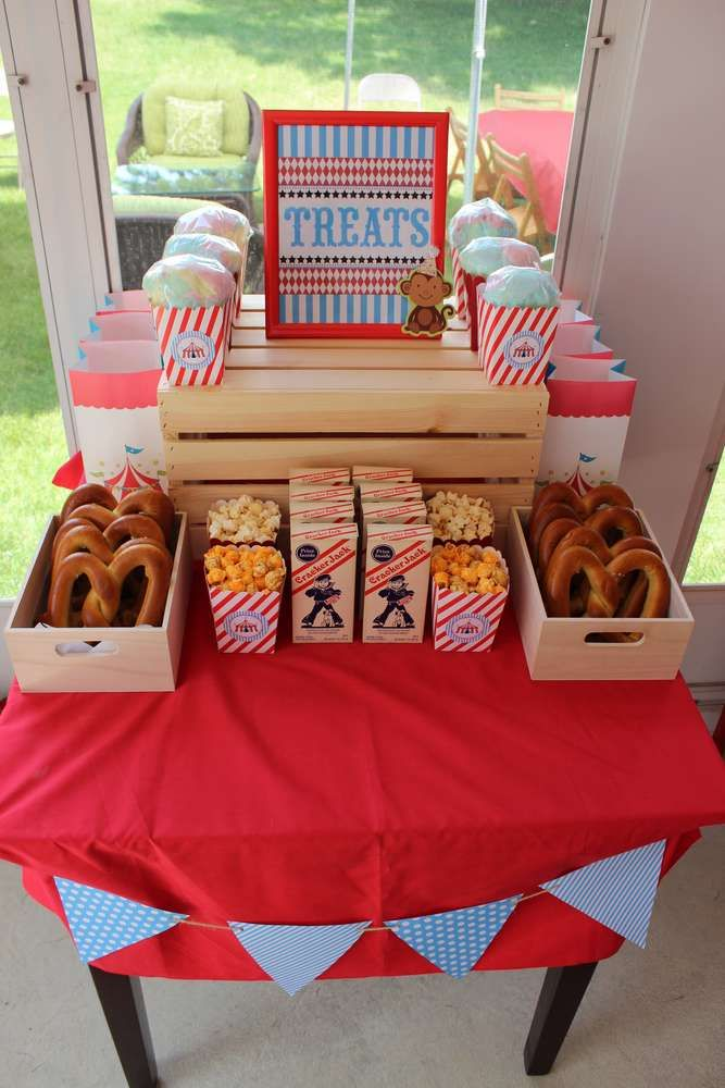 Big Top Backyard Carnival Birthday Party Ideas | Photo 1 of 33 | Catch My Party