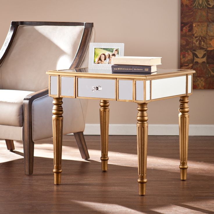 Huxley Mirrored End Table