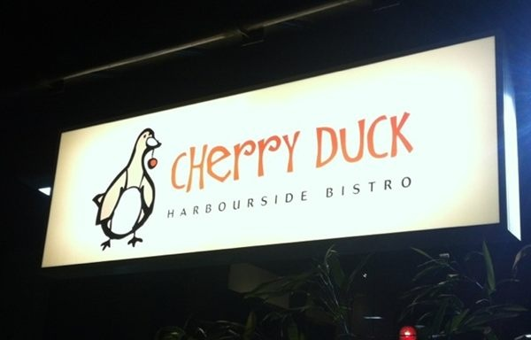 Cherry Duck bistro has its new sign...
