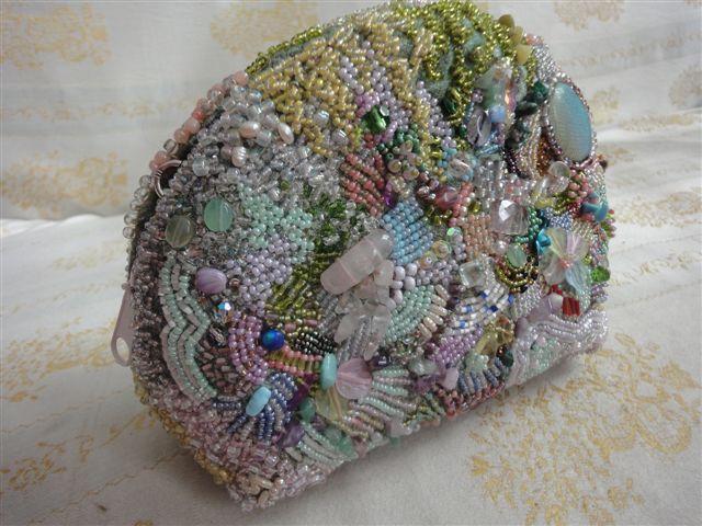 бисерная сумочка, bead bag