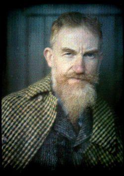 Autochrome portrait of George Bernard Shaw by Alvin Langdon Coburn