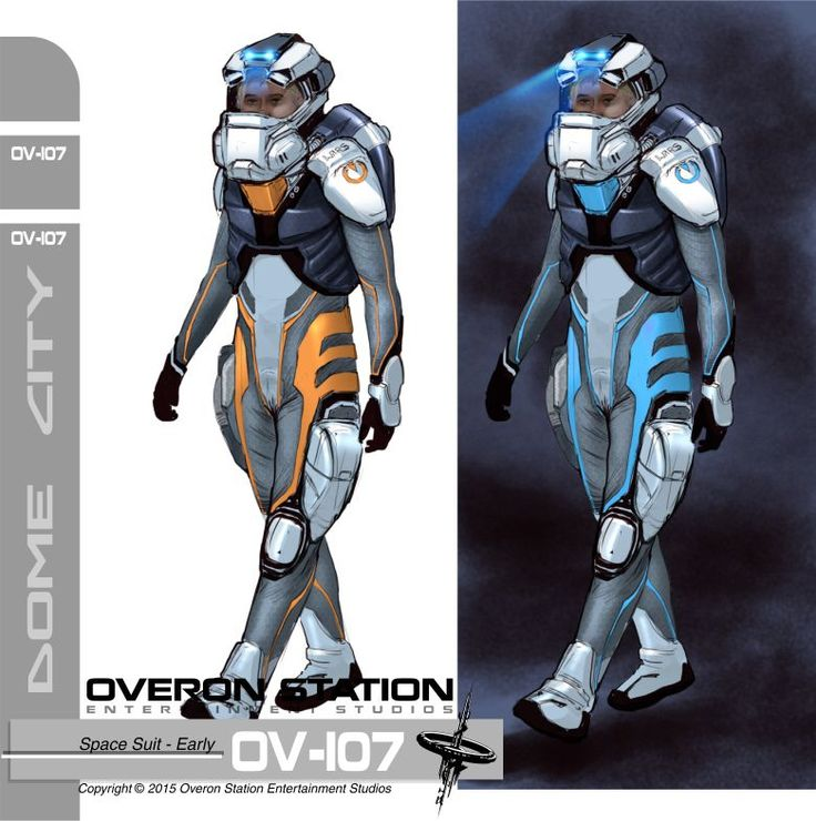 3rd version of the spacesuit design of our upcoming sci-fi adventure game with puzzles and mysteries, Dome City