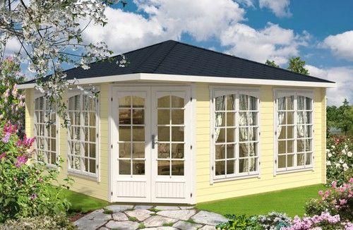 5-Eck Gartenhaus Modell Samira-44 ISO