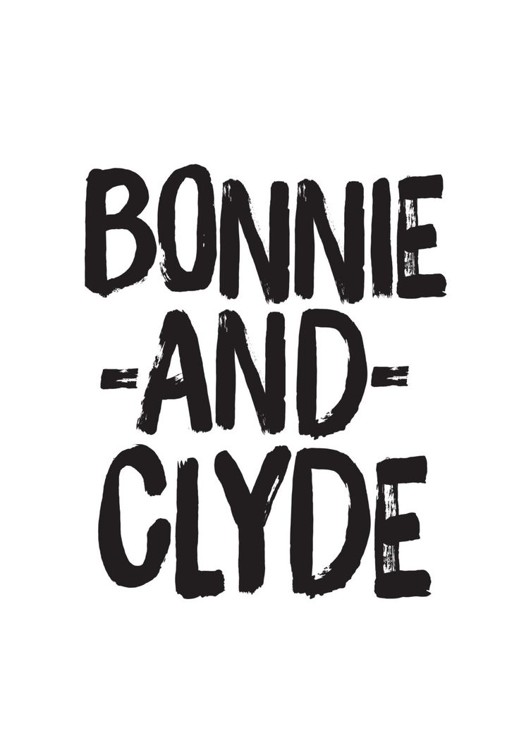 Love Quotes Movie Poster Bonnie And Clyde Print par