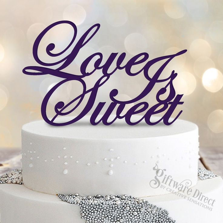 Love Is Sweet Acrylic Cake Topper - available in a variety of colours at factory direct prices! #GiftwareDirect #caketopper