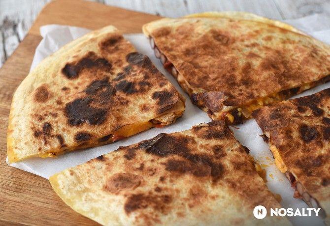 Zöldséges-csirkés quesadilla