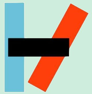 the twenty one pilots logo, i would tell you what it means but only i know what it means and i dont want to reveal it just yet. :)