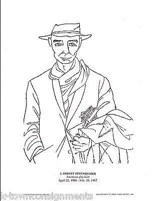 J. Robert Oppenheimer American Physicist Vintage Portrait Gallery Poster Print