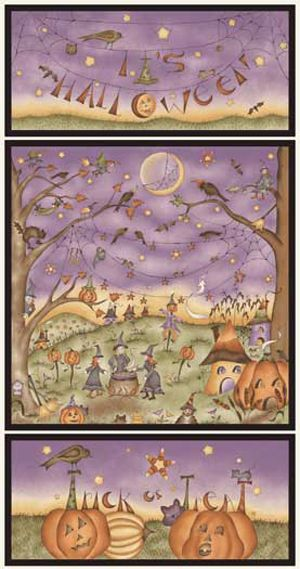 On The Web Panel - Halloween/TrickOrTreat/Witches panel 25983MUL1