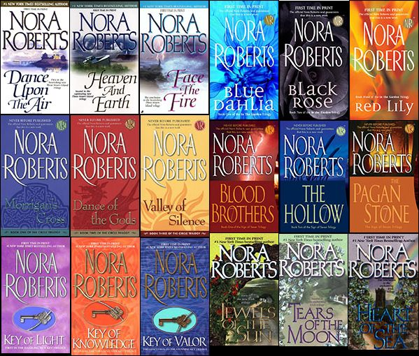 Nora Roberts Trilogies I have read all of these but the Dream Trilogy is my favorite :)
