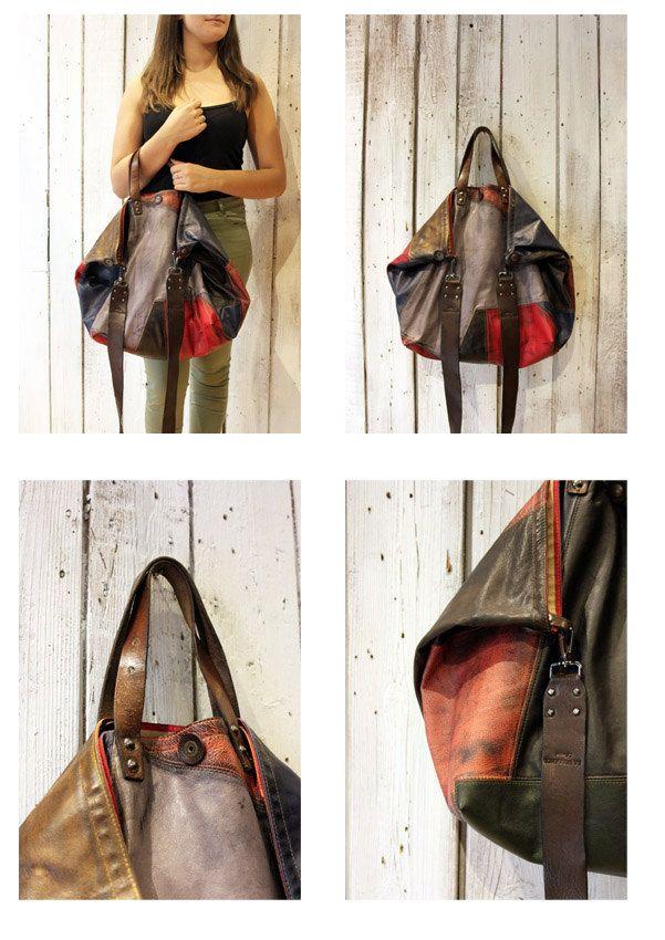 BOUQUET NEW Handmade Italian vintage leather  Tote Handbag\backpack di LaSellerieLimited su Etsy