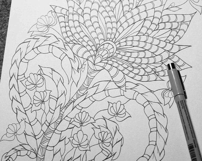 3d Coloring Mandala Perfect For Adult Coloring Page Diy Art Etsy