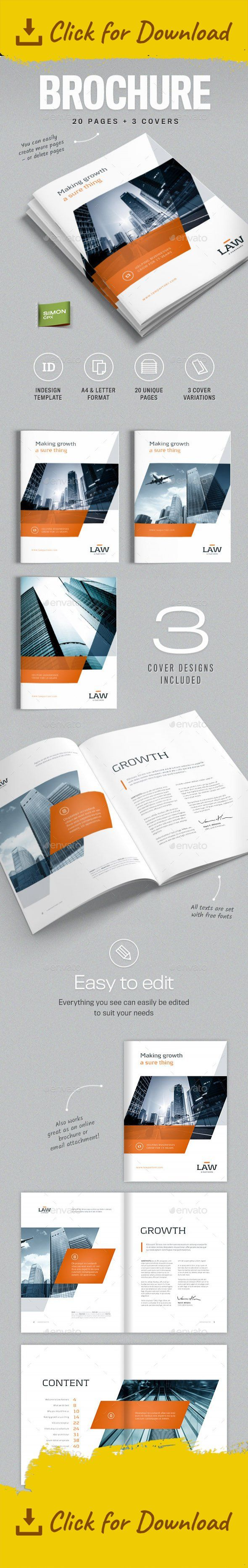 20 pages, a4, brochure, business, clean, corporate, customisable, customize, design, easy, editable logo, elegant, format, free fonts, indesign, letter, logo, modern, orange, PDF file, print ready, simple, stylish, template         Business Brochure – A4 and Letter – 'LAW' Professional, clean and modern 20 page corporate business brochure. Just drop in your own pictures and texts, and it's ready for print. Or use it as a professional online PDF or email attachment. This brochure ...