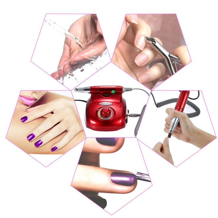 220V Professional Electric Nail Drill File Machine Nail Art Sales Online - Tomtop