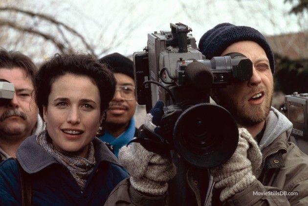 Groundhog Day - Publicity still of Andie MacDowell & Chris Elliott