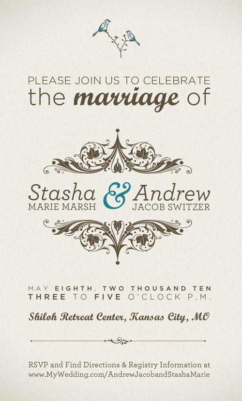 11 best Wedding Invites images on Pinterest Wedding stationery