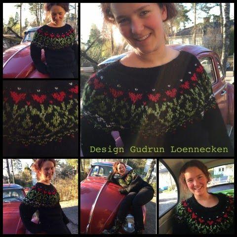 Da påskeferien startet ble jeg utfordret av min herlige tenåring. Hun ville at jeg skulle strikke en genser til henne. Garnet og fargene bes...