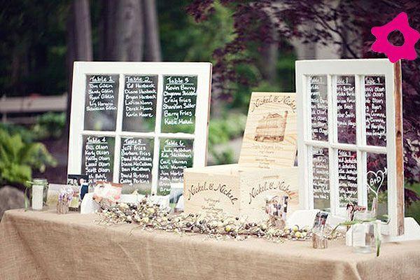 Tableau come una vera e propria finestra.I nomi degli invitati,vengono scritti direttamente sul vetro.#tableaumariage