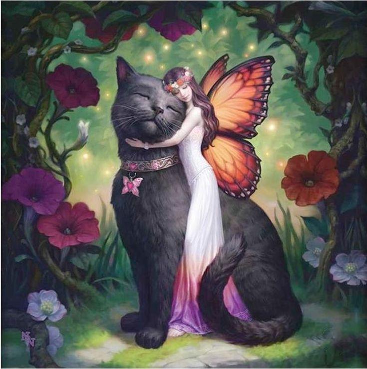 красивые картинки котов фэнтези вечер знаменательная дата