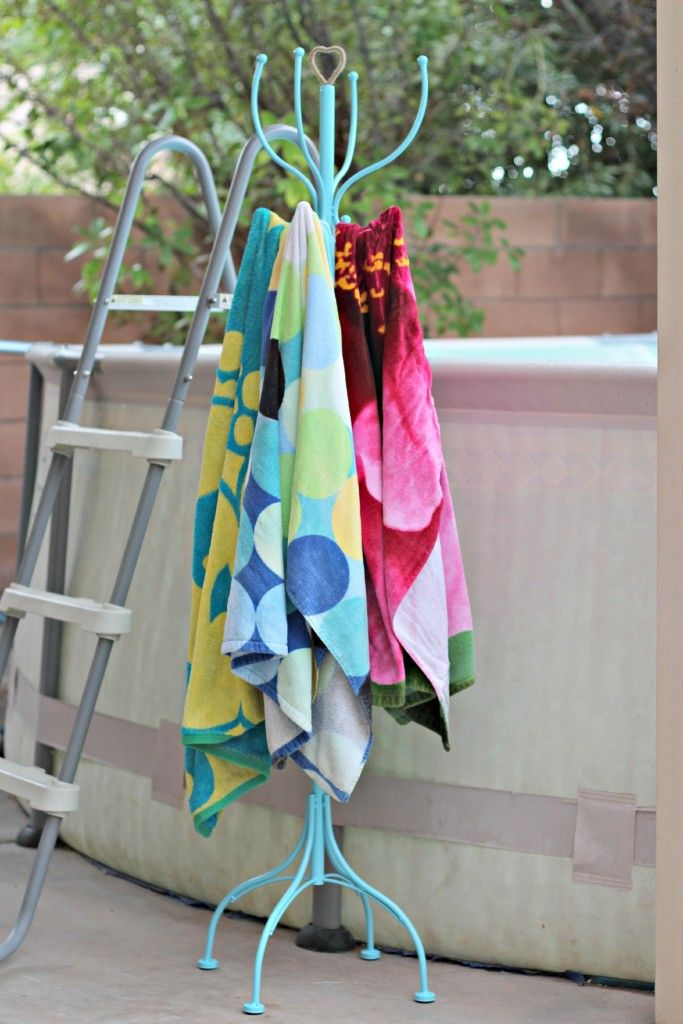 21 Best Beach Towel Racks Images On Pinterest For The