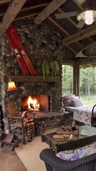 - RUSTIC HOME DECOR - Fireplace designs for cabins and cottages are what dreams are made of. Few things are as magical and comforting as relaxing beside a crackling   fire in a cozy cabin hearth!