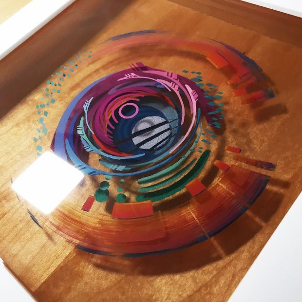 Picture of 3D painting: Layered Resin and Acrylic Paint