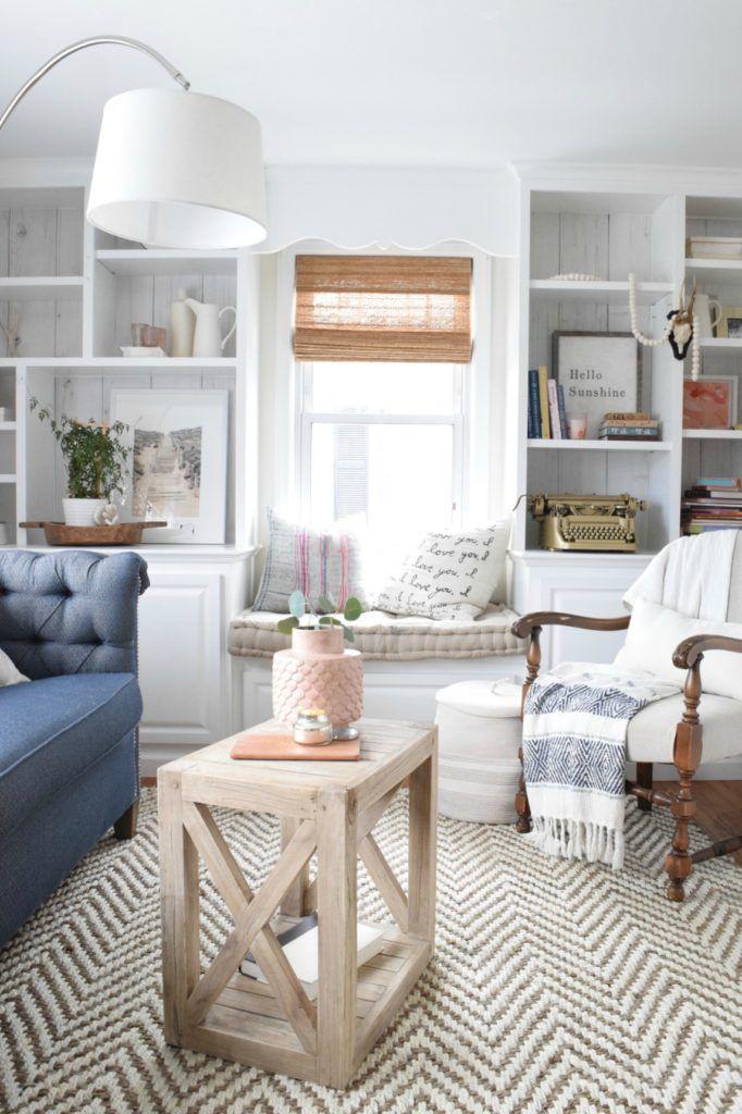 Spring Home Decor Ideas with Rugs USA's Kiwa WA03 Handwoven Jute Jagged Chevron Rug!