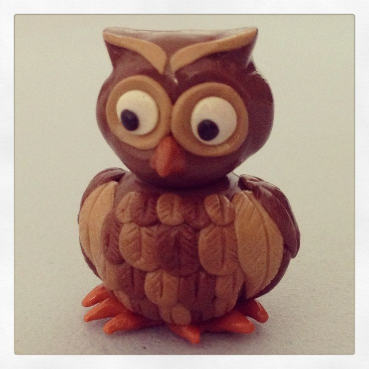 Little owl I made with polymer clay :)