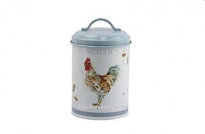 Country Chicken Sugar Canister~Pretty Cottage Kitchen~Shabby Chic Cockerel Jar