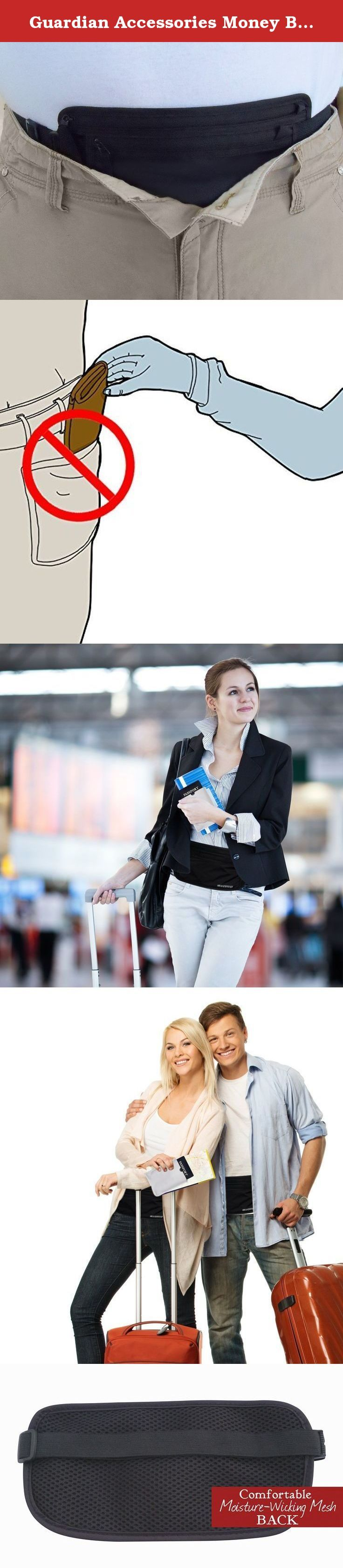 Guardian Accessories Money Belt Travel Safety Wallet w/ 3 RFID Sleeves. The Guardian Travel Wallet Money Belt is our most popular security money belt. It has two zippered compartments with a water resistant coating so you can separate your currency and credit cards from your passport or other valuables, keeping them dry, hidden, secure and safe. The moisture wicking back panel keeps it comfortable and dry against your skin. Adjustable, water resistant, slim, and stylish for all your...