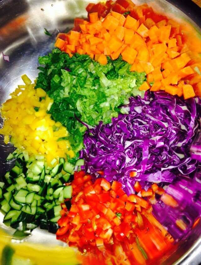 The perfect salad to help curb your crave for Thai without the carbs! 21 Day Fix Approved!