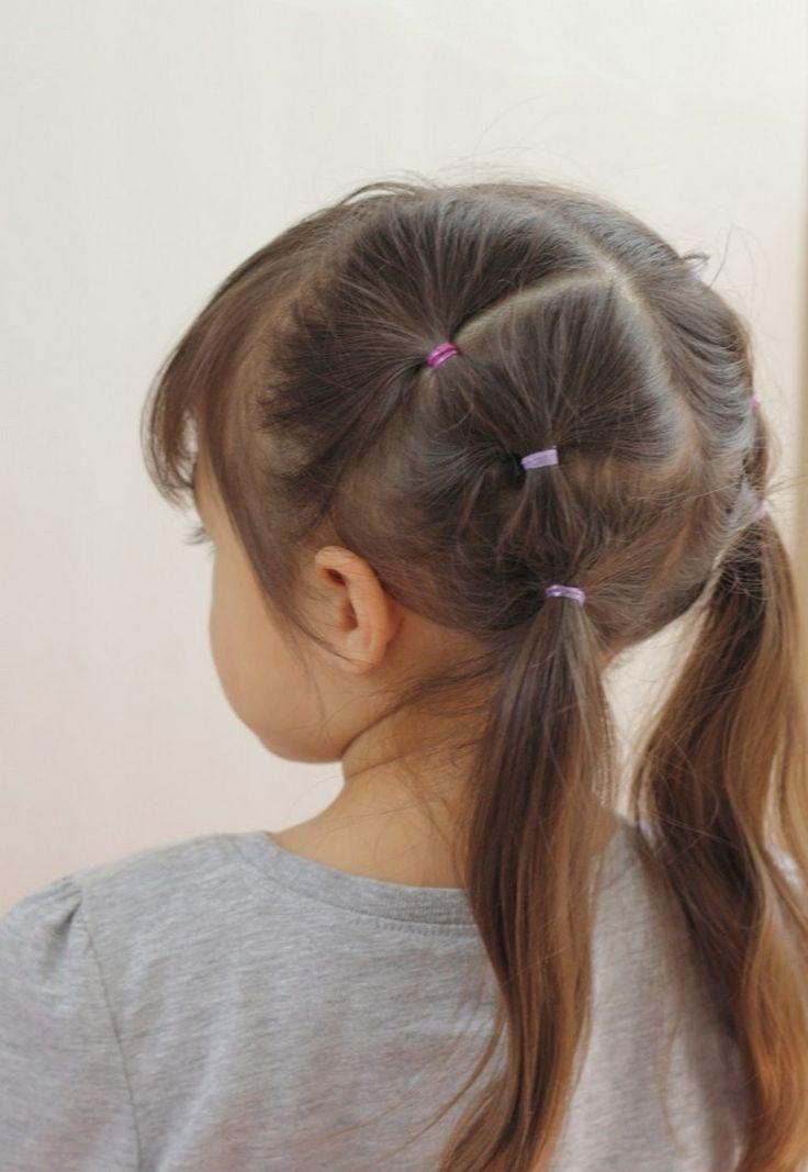 25 einfache Frisuren für kleine Mädchen, die 2 Minuten oder weniger brauchen – Neue Haare Frisuren 2019