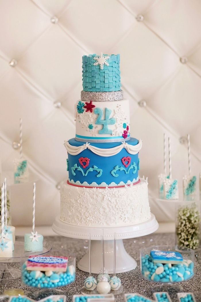 Frozen play land themed birthday party via Kara's Party Ideas KarasPartyIdeas.com Cake, supplies, cupcakes, tutorials, and more! #frozen #frozenparty #disneysfrozen (16)