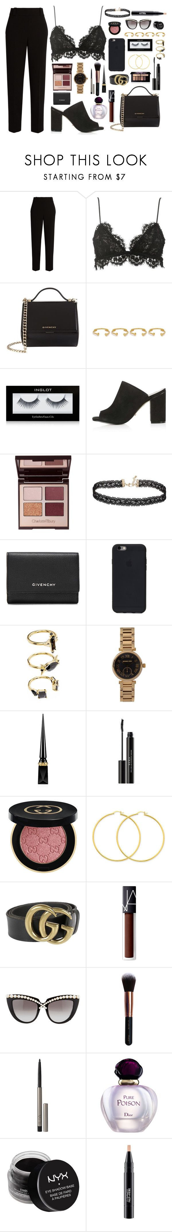 """""""2029"""" by thecaitlinpeters ❤ liked on Polyvore featuring The Row, Isabel Marant, Givenchy, Joanna Laura Constantine, Inglot, Topshop, Charlotte Tilbury, Miss Selfridge, Noir Jewelry and MICHAEL Michael Kors"""