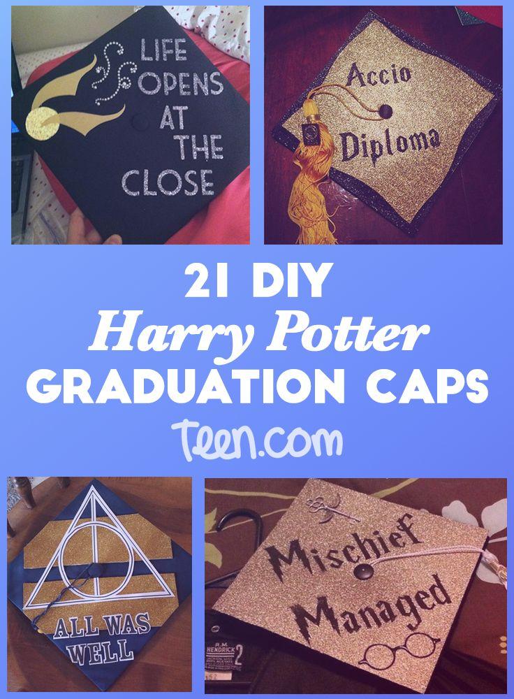 Magical Harry Potter Graduation Caps