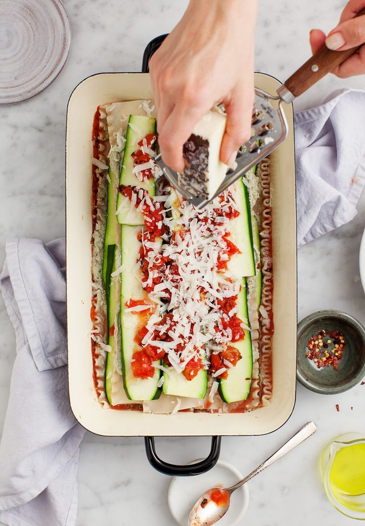 """Zucchini Lasagna with Zucchini """"Ricotta"""" /"""