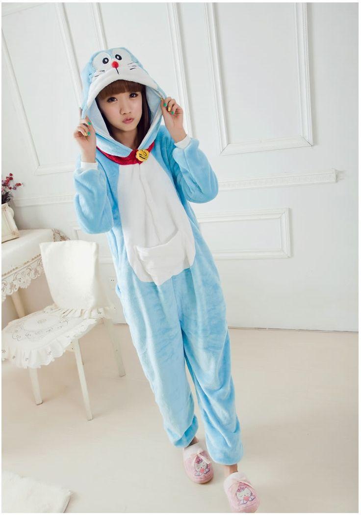 Flannel family animal pajamas one piece onsies onesies cosplay pijama doraemon pigiama pyjama pijamas enteros de animales