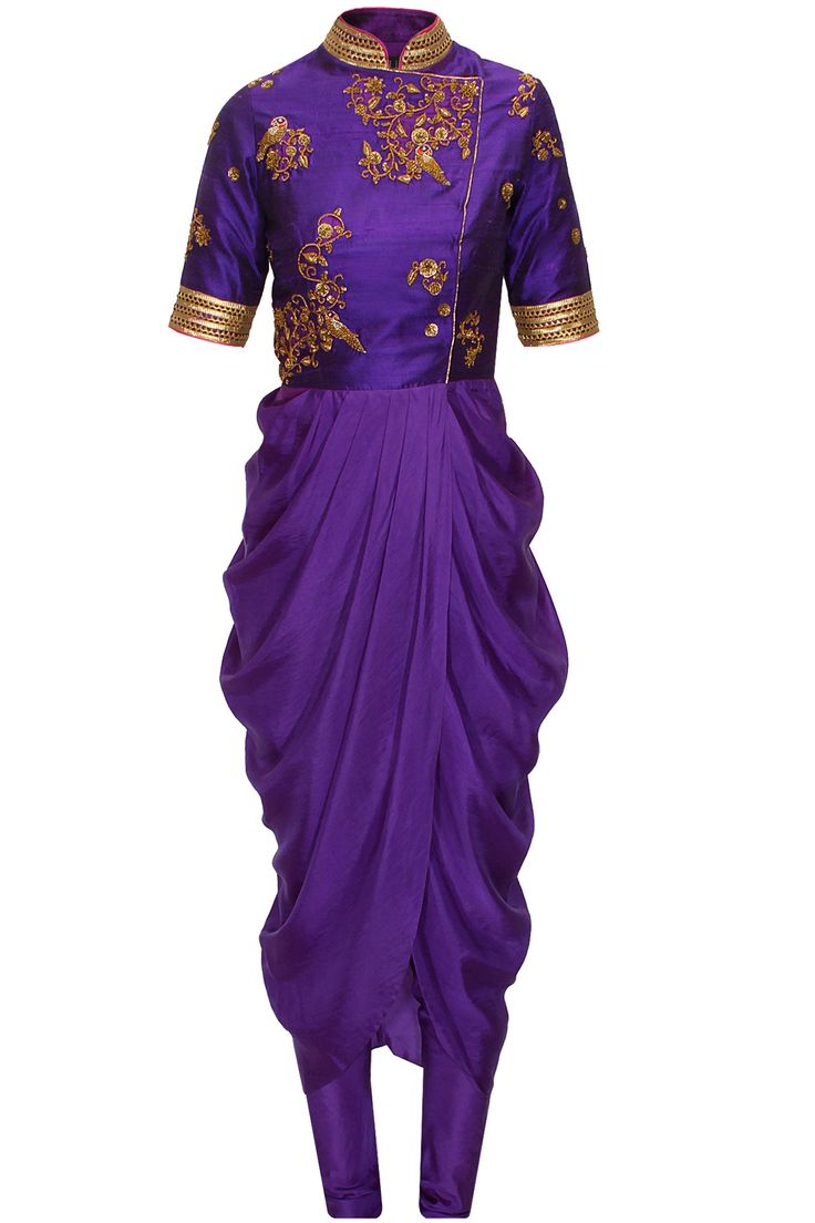 Purple embroidered drape set available only at Pernia's Pop-Up Shop.