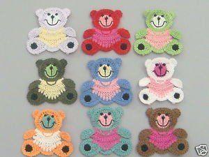 Free Crochet Appliques | How to Applique ༺✿ƬⱤღ  https://www.pinterest.com/teretegui/✿༻