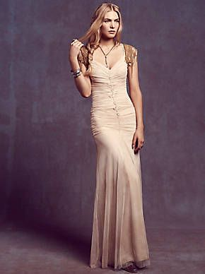 Free People Shirred Tie Dye Gown, $385.00