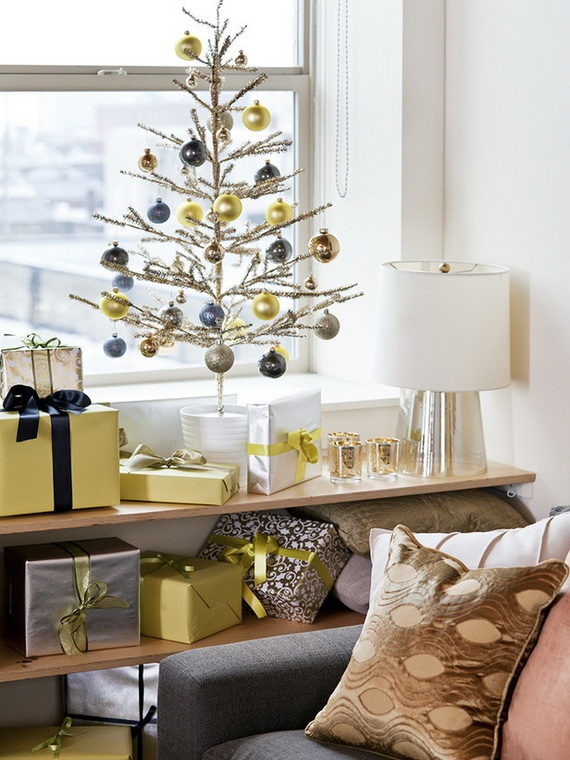 Modern Christmas Glamour Golden Baubles High End Finisheetallic Trees Are All Excellent Ways To Bring Your Decor Into The