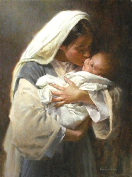 The Blessed Mother <>< Bore, loved, cared for and kissed face of the Savior, God-made-man ><>< ~ soft, gentle and beautiful~