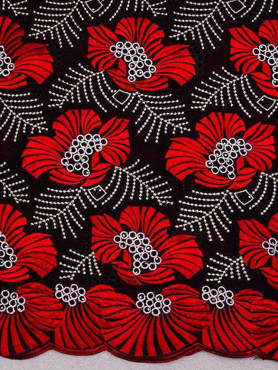 Swiss Voile Lace African Fabric (etsy)