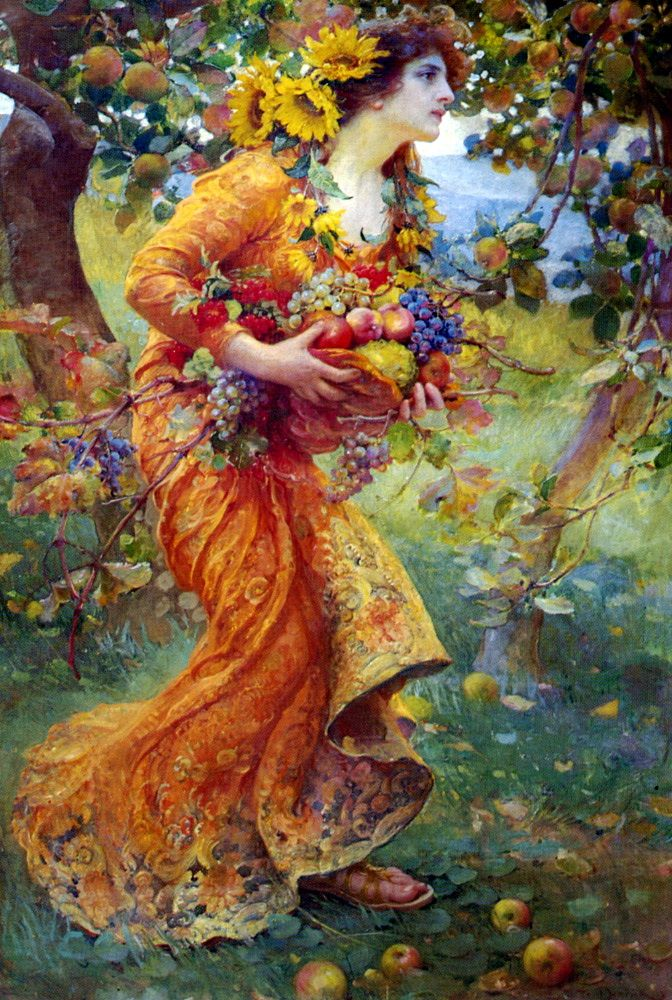 Elyan Blog: Franz Dvorak (1862 – 1927) - in the Orchard 1912